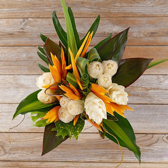 White Ginger Amp Loofahs Bouquet The Bouqs Co
